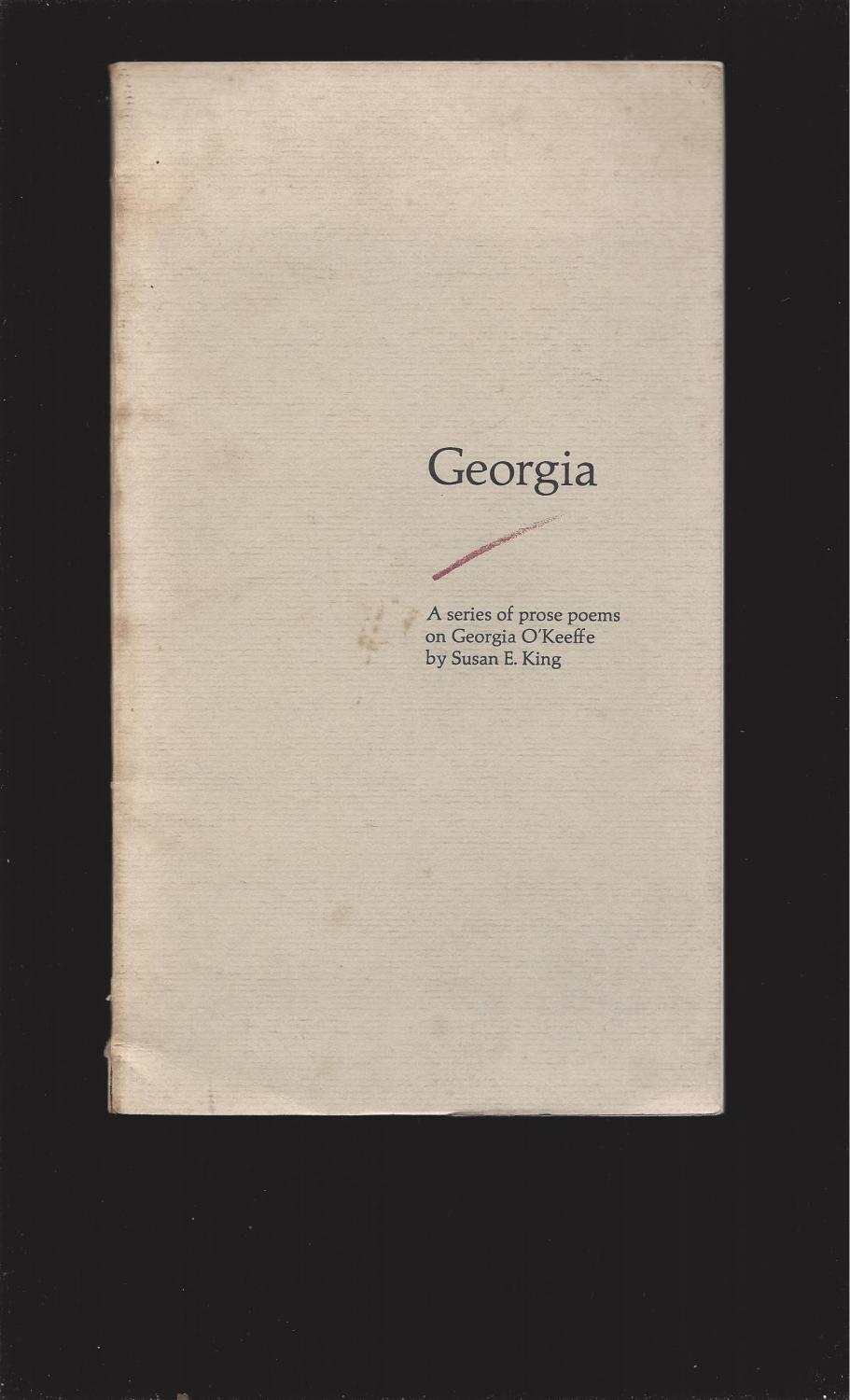 georgia a series of prose poems on georgia okeeffe