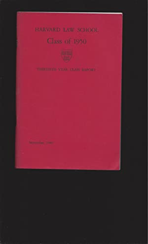 Harvard Law School: Class of 1950 and Harvard College: Class of 1948 (4 volumes)