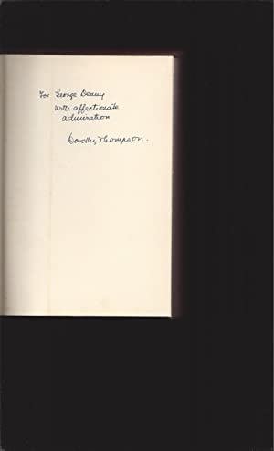 Listen, Hans (Signed by Dorothy Thompson)