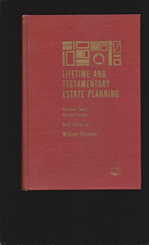 Lifetime And Testamentary Estate Planning (Signed) (John J. McCloy's book)