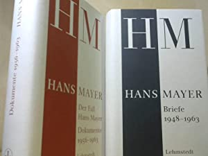 Hans Mayer Briefe 1948-1963. Der Fall Hans Mayer Dokumente 1956-1963. 2 Bände.