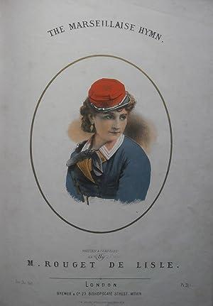 The Marseillaise Hymn.: VICTORIAN MUSIC COVER.