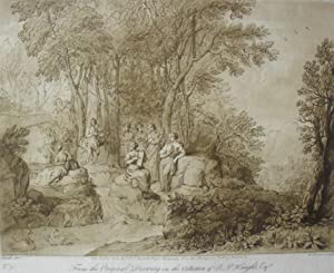 Landscape with Apollo and the muses, by: After CLAUDE LORRAIN