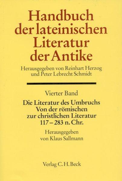 Sallmann, Die Literatur des Umbruchs cover
