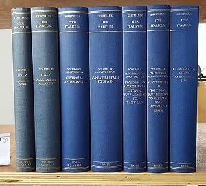Iter Italicum. A finding list of uncatalogued: Kristeller, Paul Oskar:
