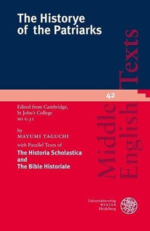 The Historye of the Patriarks. Edited from: Taguchi, Mayumi: