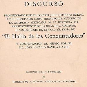 EL HABLA DE LOS CONQUISTADORES: JULIO JIMENEZ RUEDA