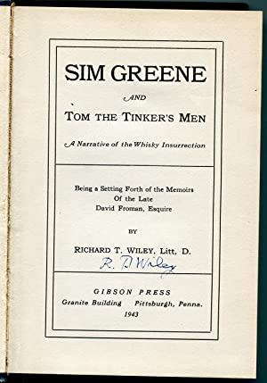 Sim Greene and Tom The Tinkers Men: Wiley, Richard T