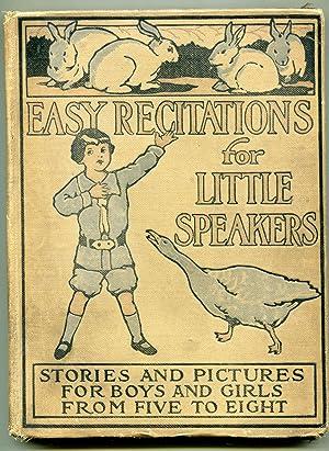 Easy Recitations for Little Speakers: Shorey, john L