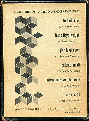 Master of World Architecture, six volumes: Le Corbusier; Frank Lloydight; Pier Luigi Nervi; Antonio...