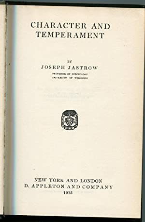 Character and Temperament: Jastrow, Joseph