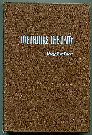 Methinks The Lady: Endore, Guy