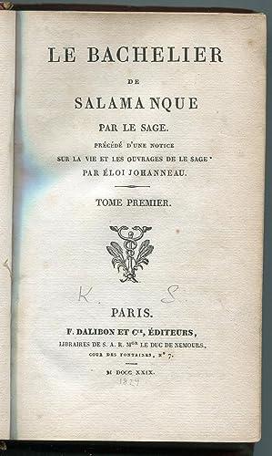 Le Bachelier De Salamanque Par Le Sage: Eloi Johanneau
