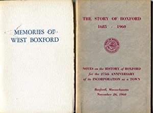 Memories of West Boxford and The Story of Boxford (Massachusetts): Elizabeth Sanbornn Pearl