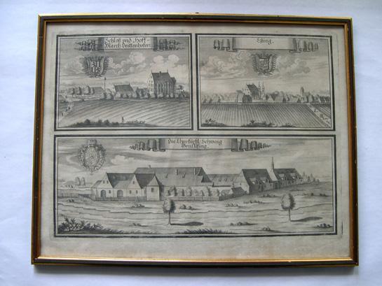 1 Bl. Kupferstiche mit 3 Ansichten: ?Schloß: Wening, Michael (1645-1718).