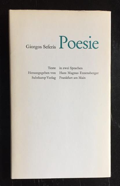 Poesie. Griechisch - deutsch.: Seferis, Giorgos.