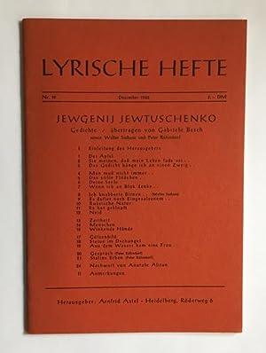 Gedichte. [In:] Lyrische Hefte. Zeitschrift für Gedichte.: Jewtuschenko, Jewgenij.