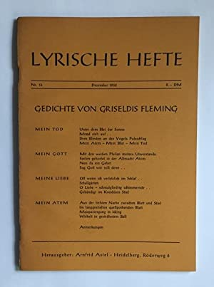 Gedichte. [In:] Lyrische Hefte. Zeitschrift für Gedichte.: Fleming, Griseldis.