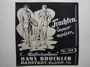 Trachten immer modern Maßschneiderei Hans Bruckler Radstadt,