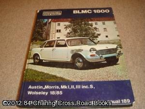Blmc 1800 & 18/85 Workshop Repair Manual
