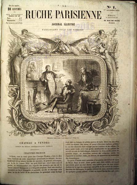 la ruche parisienne journal illustr paraissant tous les samedis by noblet g paris j. Black Bedroom Furniture Sets. Home Design Ideas