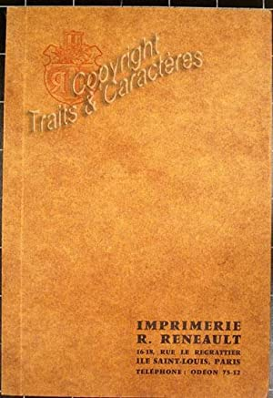 Catalogue de l'Imprimerie Reneault.