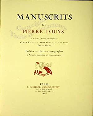 Manuscrits de Pierre Louys et de divers: Carteret (Leopold), louys