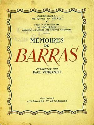 Mémoires de Barras.: Barras, Vergnet (Paul)