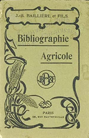 Bibliographie agricole.
