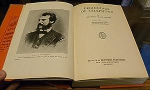 BEGINNINGS OF TELEPHONY: Rhodes, Frederick Leland