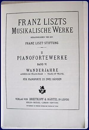ANNEES DE PELERINAGE.: Liszt, Franz