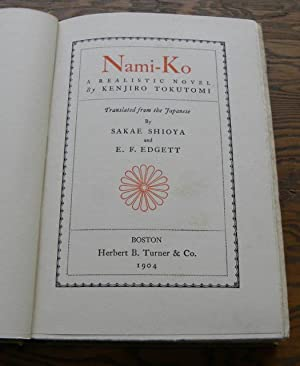 NAMI-KO. A Realistic Novel: Tokutomi, Kenjiro