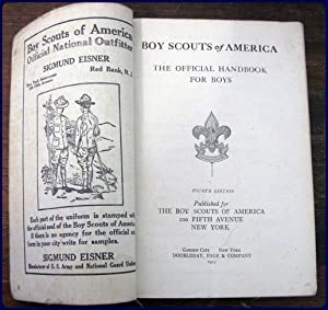 THE OFFICIAL HANDBOOK FOR BOYS: Boy Scouts of America