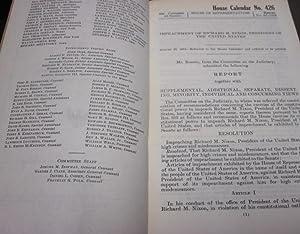 IMPEACHMENT OF RICHARD M. NIXON PRESIDENT OF: U.S. House of