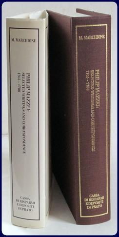 PHILIP MAZZEI: SELECTED WRITINGS AND CORRESPONDENCE. 1765-1816.: Marchione, Margherita (Editor)