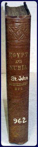 EGYPT AND NUBIA: St. John, J. A.