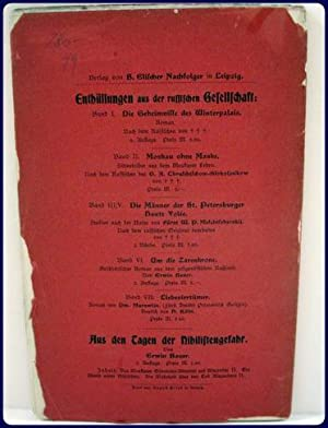 AUS DEN GEHEIMNISSEN DES UNTERIRDILCHEN RUSSLANDS.: Sydacoff, Bresnitz von