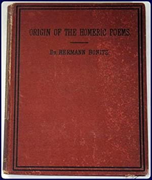 THE ORIGIN OF THE HOMERIC POEMS. A lecture. Trans. from the 4th. German edition by Lewis R. Packard...