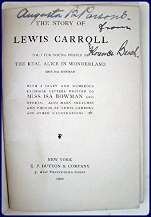 THE STORY OF LEWIS CARROLL TOLD FOR YOUNG PEOPLE: Bowman, Isa: