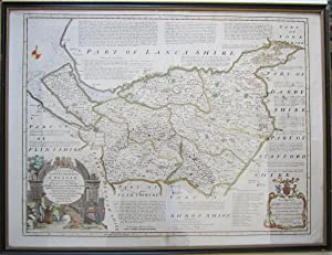 AN ACCURATE MAP OF THE COUNTY PALATINE OF CHESTER, Divided Into Its Hundreds, Drawn from the Best ...