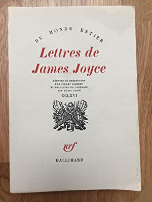 Lettres de James Joyce: JOYCE James, GILBERT