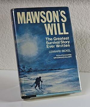 Mawson's Will: Bickel, Leonard