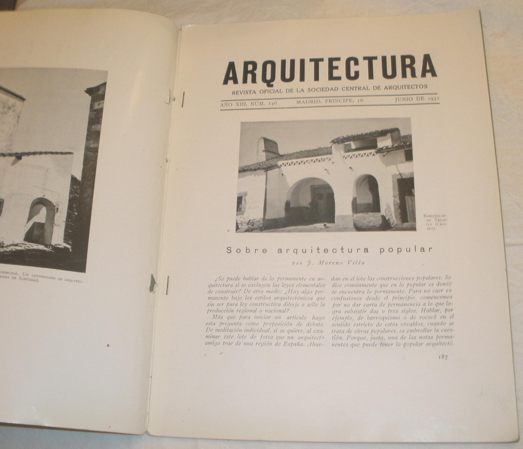 revista oficial de la sociedad central de arquitectos vv