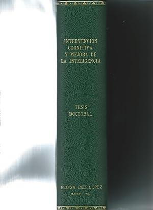Tesis Doctoral Intervención Congnitiva y mejora de la Inteligencia. Universidad complutense de ...