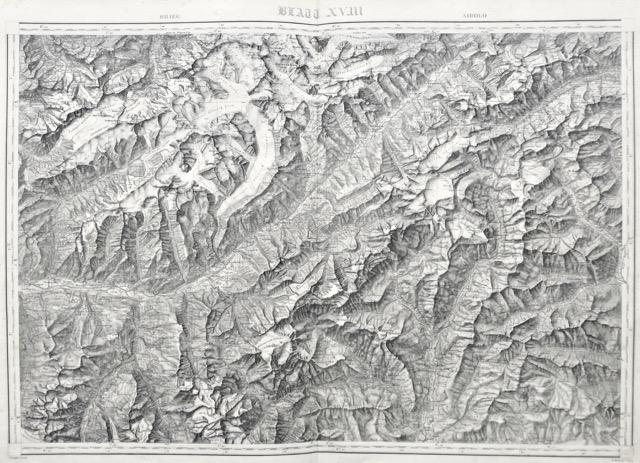 Topographische Karte der Schweiz. Vermessen und herausgegeben: Dufour, G. H.