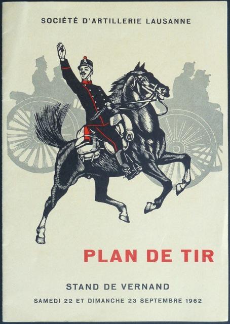 Plan de Tir [de Sainte-Barbe] : Stand: Société d?artillerie Lausanne