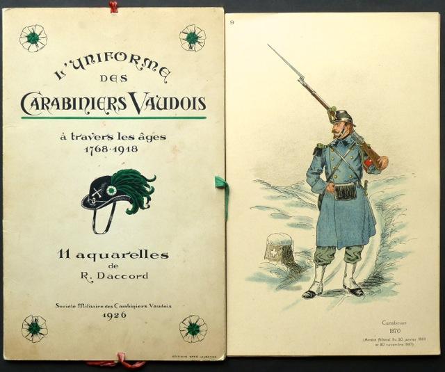 L'uniforme des carabiniers vaudois à travers les: Daccord, R. [Robert?].