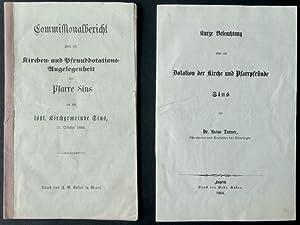 Commissionalbericht über die Kirchen- und Pfrunddotations-Angelegenheit der Pfarre Sins an die...