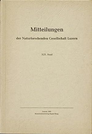 Nachlese zur Anthropologie des verlandeten Wauwilersees (Luzern); bzw. Pflanzengesellschaften der ...