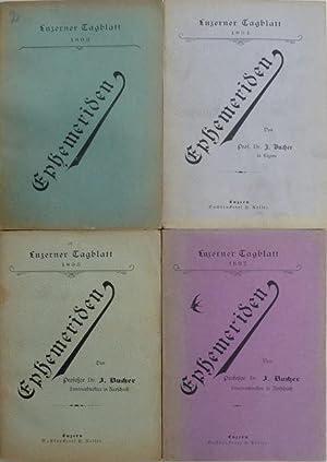 Ephemeriden. Separat-Abdruck aus dem ?Luzerner Tagblatt?.: Bucher, J. [Jakob] (Bearb.).